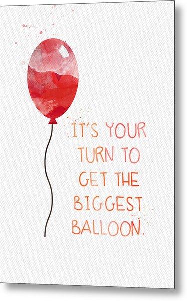 Biggest Balloon- Card Metal Print