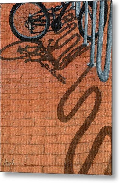 Bike And Bricks No.2 Metal Print by Linda Apple