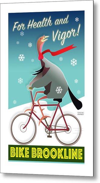 Bike Brookline Metal Print