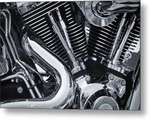 Bike Chrome Metal Print