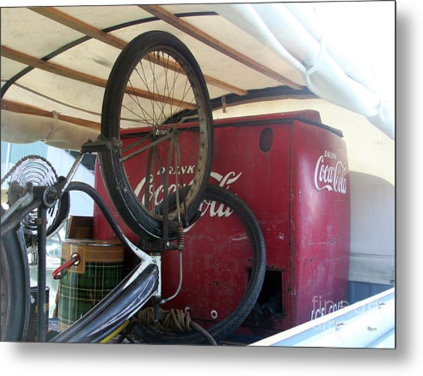 Bike Cola  Metal Print by Steven Digman