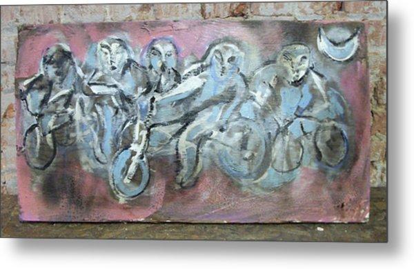 Bike Gang Metal Print by Dean Cercone