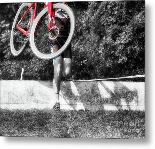 Bike Lifting  Metal Print by Steven Digman