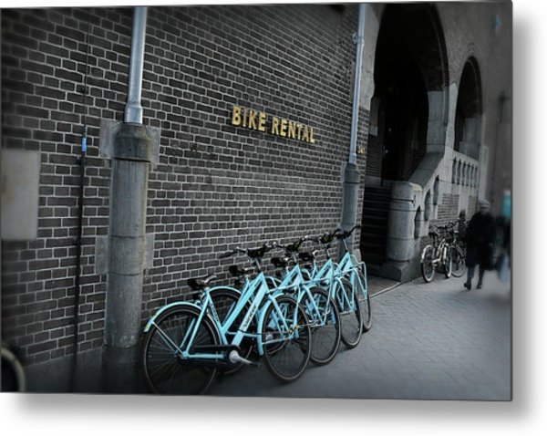 Metal Print featuring the photograph Bike Rental by Scott Hovind