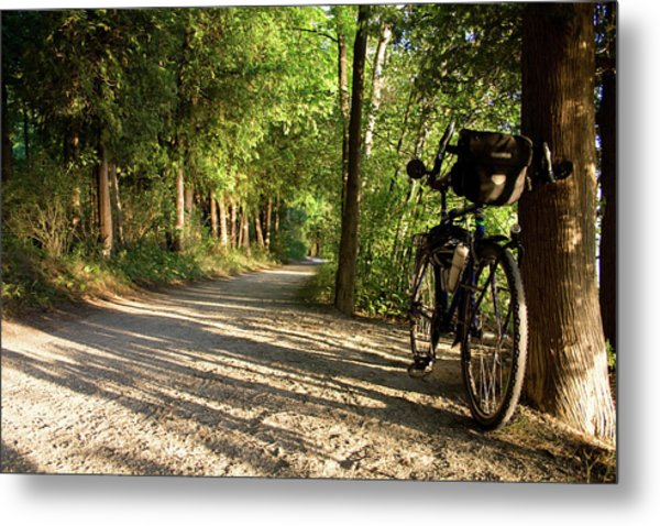 Bike Rest Metal Print