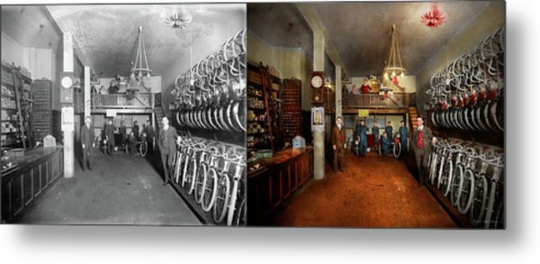 Bike - Store - Haverford Cycles 1919 - Side By Side Metal Print