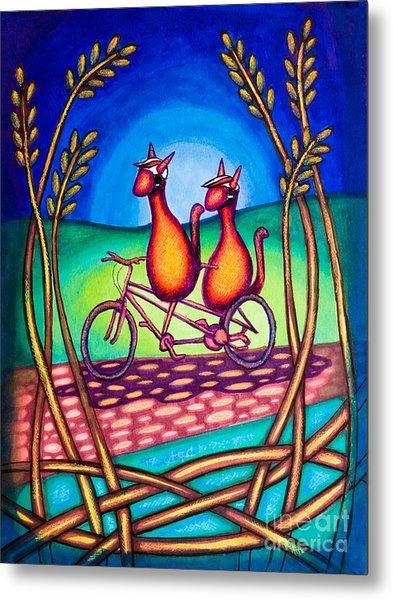 Biker Kats Metal Print
