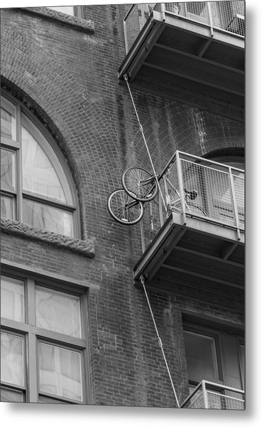 Bikes On Balcony Metal Print by Denise McKay