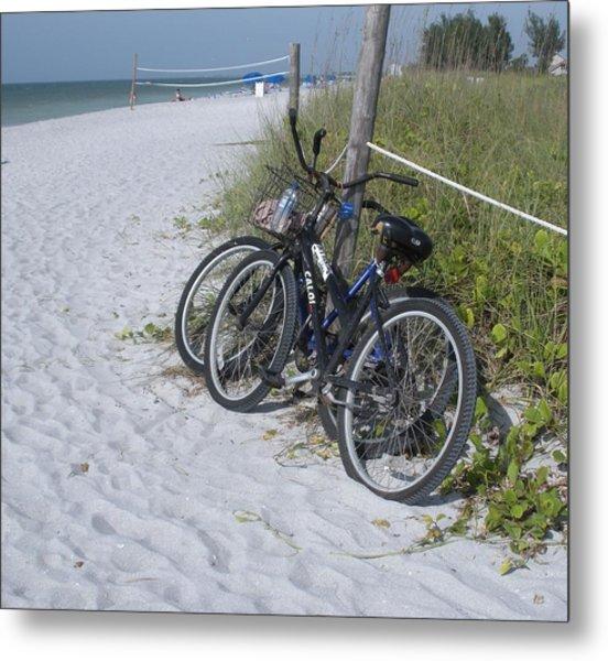 Bikes On The Beach Metal Print