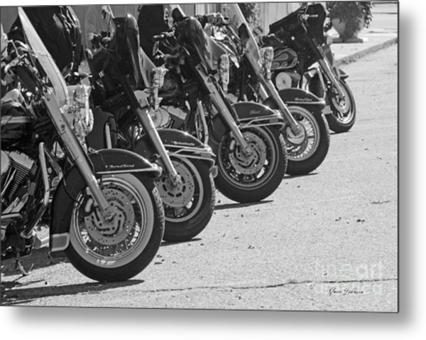 Bikes On The Line Metal Print
