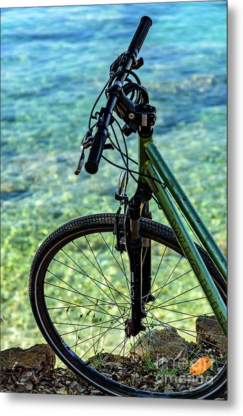 Biking The Rovinj Coastline - Rovinj, Istria, Croatia Metal Print