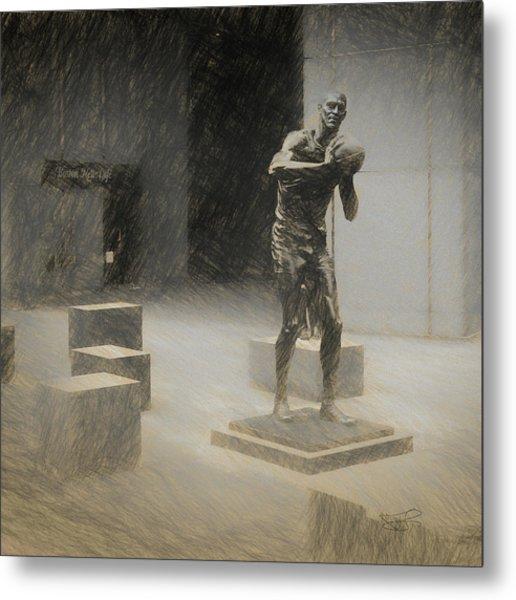 Bill Russell Statue Metal Print