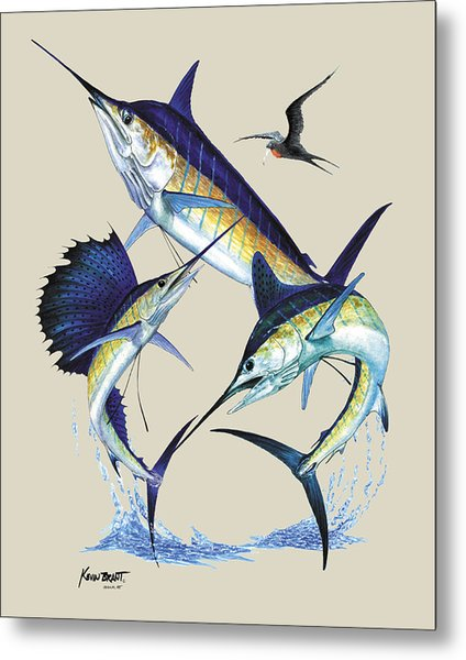Billfish Slam Metal Print