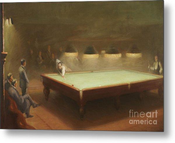 Billiard Match At Thurston Metal Print