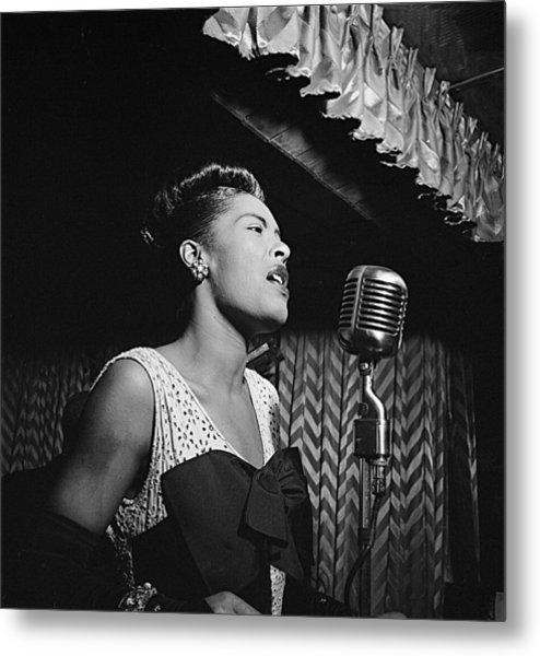 Billie Holiday William Gottlieb Photo New York City 1947 Metal Print