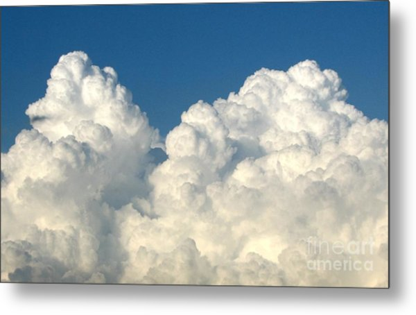 Metal Print featuring the photograph Billowing Clouds 1 by Rose Santuci-Sofranko