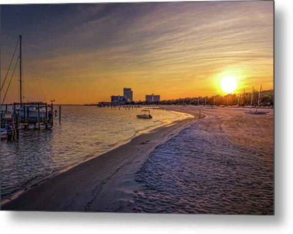 Biloxi Beach Sunset Metal Print by Barry Jones