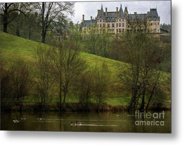 Biltmore Estate At Dusk Metal Print