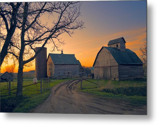 Birch Barn 2 Metal Print
