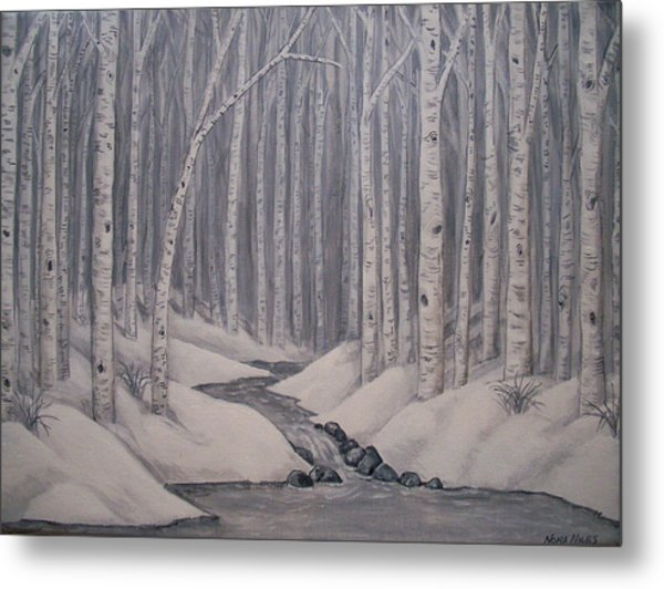 Birch Forest Metal Print by Nora Niles
