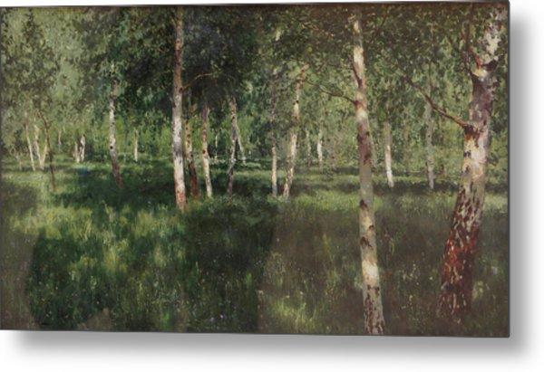 Birch Grove Metal Print by Isaac Levitan