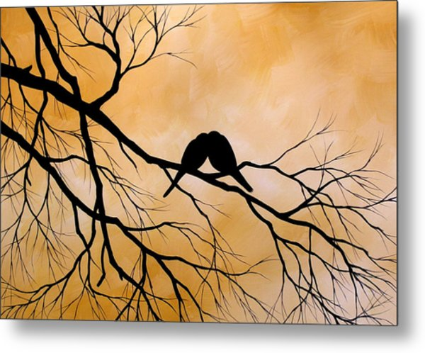 Bird Art Lost Without You By Amy Giacomelli Metal Print