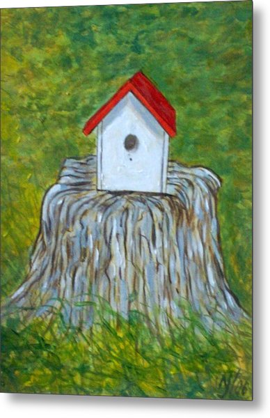 Bird House Metal Print by Norman F Jackson