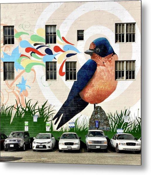 Bird Mural Metal Print