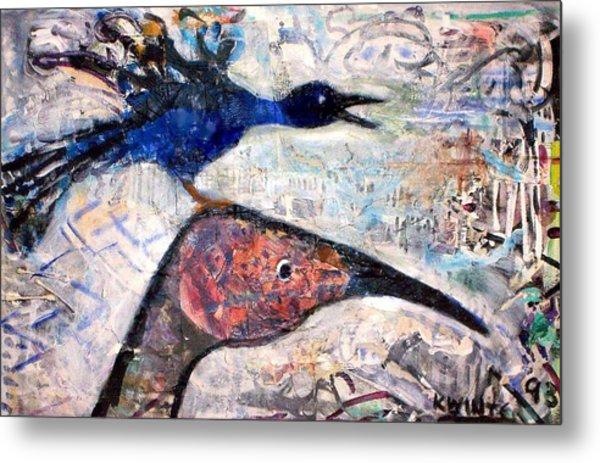 Bird On Bird Metal Print by Dave Kwinter
