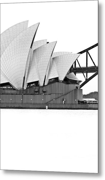 Bird On The Harbour Metal Print