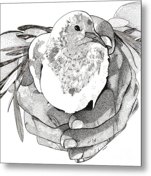 Bird Peace Metal Print