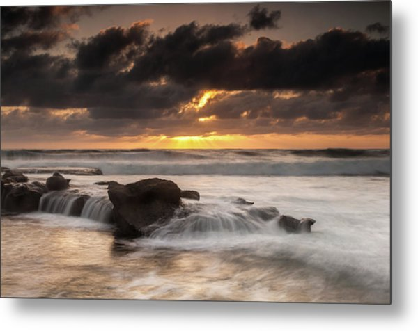 Bird Rock Clearing Storm Metal Print