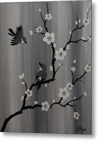 Birds And Blossoms Metal Print