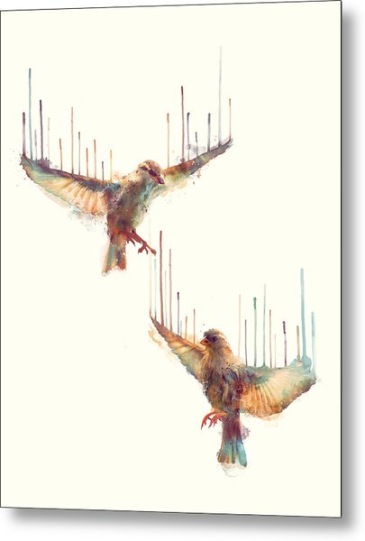 Birds // Awake Metal Print
