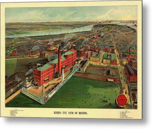 Bird's Eye View Of Boston Metal Print
