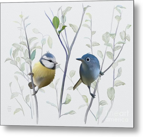 Birds In Tree Metal Print