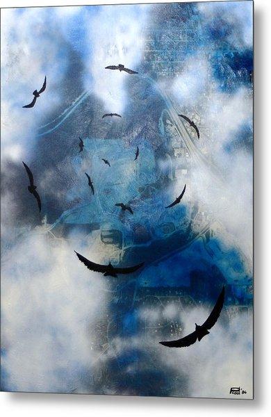 birds of apocalypse VI Metal Print by Poul Costinsky