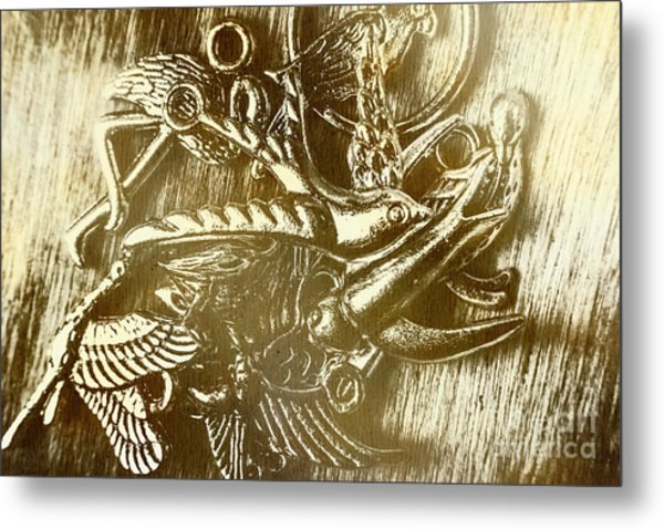 Birds Of Metal Metal Print