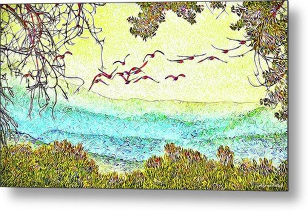 Birds Over Horizon - Boulder County Colorado Metal Print