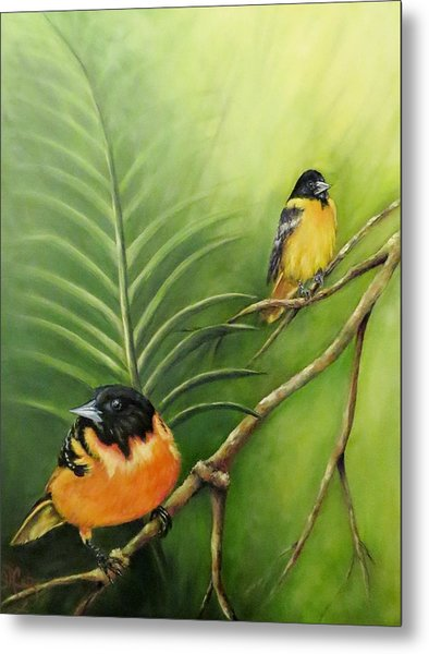 On The Lookout, Birds  Metal Print
