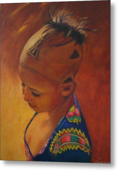 Birmanese Girl Metal Print by Leonor Thornton