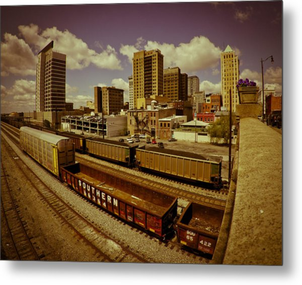 Birmingham At Work Metal Print