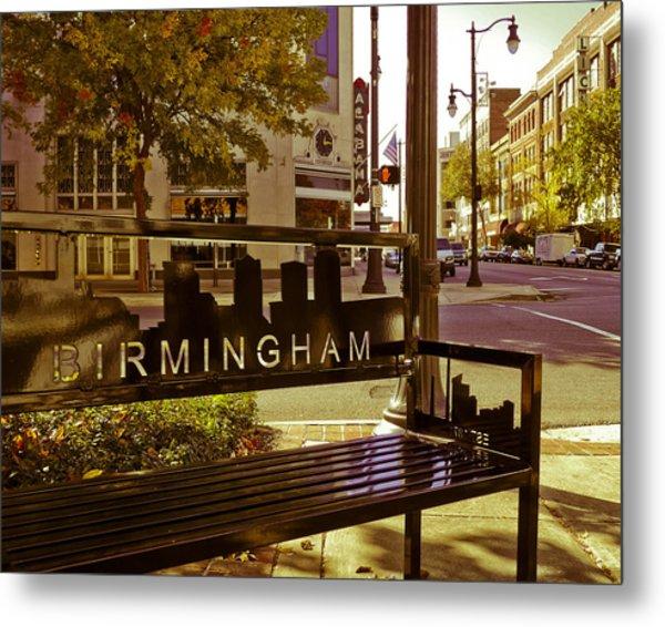 Birmingham Bench Metal Print
