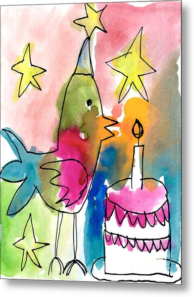 Birthday Bird Metal Print