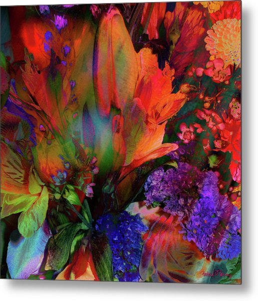 Birthday Flowers Metal Print