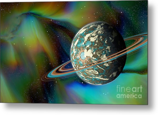 Birthing Planet Metal Print