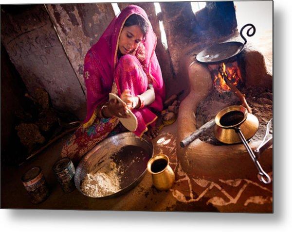 Bishnoi Kitchen Metal Print