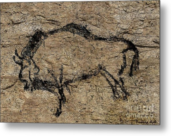 Bison From Niaux Cave Metal Print
