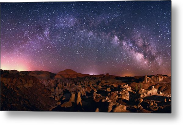 Bisti Badlands Night Sky - 2 Metal Print