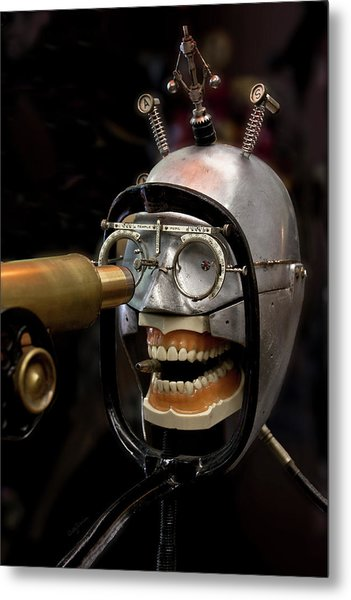 Bite The Bullet - Steampunk Metal Print